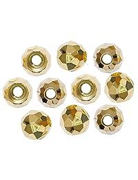 茉莉花 圆形切割 圈圈 15mm 10个装 金色 N515