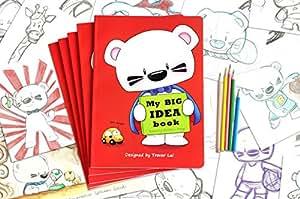 BOOMi+bibop 超级熊绘图本 50张/100面~ 赖嘉晟(Trevor Lai)原创设计 红色