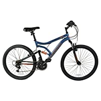Muddyfox 男式/男式灰色麻灰色双悬架山地自行车 - 灰色 - 英国尺码 1-1