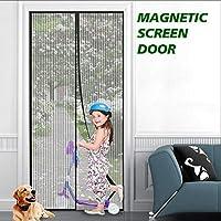 "eMaxtree *玻璃纤维磁性屏风门网眼窗帘,室内室外蚊帐纱门免提按扣屏帘适用于门廊、露台、阳台 Fits Doors Up To 37"" x 82"" Max"