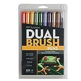Tombow Dual Brush Pen Set, 10-Pack, Secondary