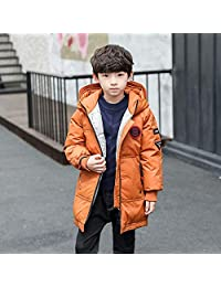 夷榀 男童羽绒棉服2018新款韩版童装中长款男孩加厚棉袄外套大儿童棉衣