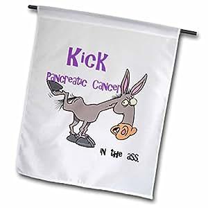 dooni Designs 公益宣传丝带设计–kick ** IN THE ASS 公益宣传丝带设计–旗帜 12 x 18 inch Garden Flag