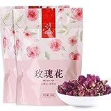 忆江南 花草茶花茶重瓣红玫瑰泡茶 玫瑰花100g*2袋