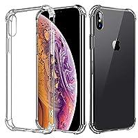 iPhone Xs Max 手机壳,Apple iPhone Xs 手机壳花朵防震透明 TPU 硅胶缓冲凝胶保护套适用于 iPhone Xr