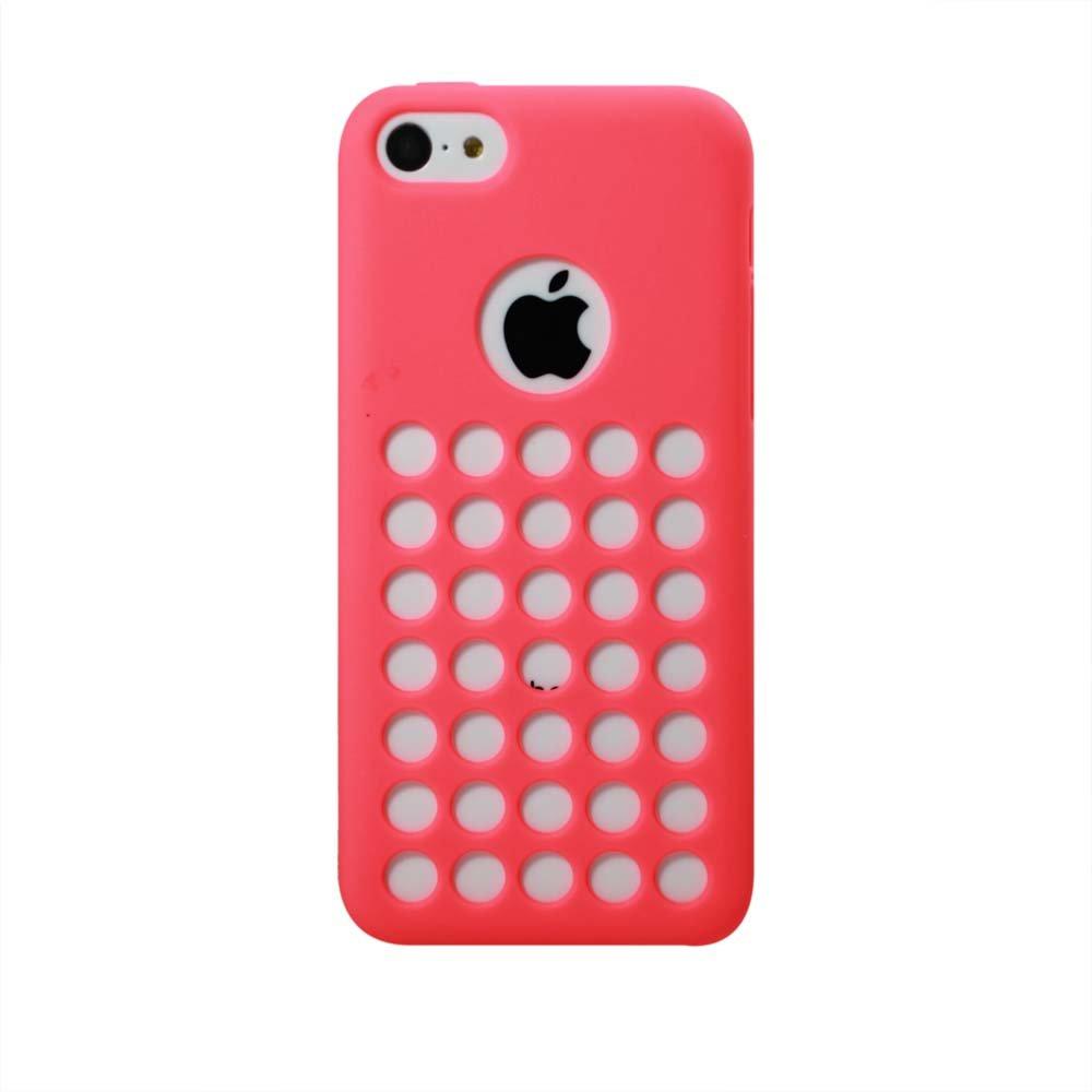 比捷瑞精品数码 apple iphone5c 镂空 圆孔 tpu 磨砂哑光 手机保护套