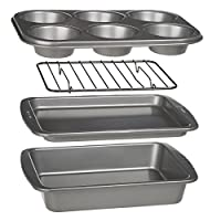 Ecolution 烤箱烘焙用具 4 件套,不粘重型碳钢
