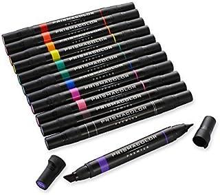 Prismacolor 双头美术用马克笔,粗细笔尖,12 支装