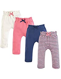 touched 来自大自然中性款婴儿有机条纹裤子2件装
