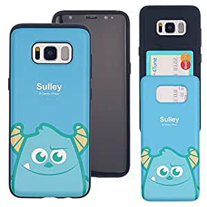 Galaxy Note9 Case DISNEY Cute Monsters University Slim Slider Cover : Card Slot Shock Absorption Shockproof Dual Layer Protective Holder Heavy Duty Bumper for [ Samsung Galaxy Note9 ] Case - Sulley