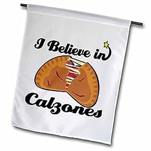 dooni Designs I believe IN Designs–I believe IN calzones–旗帜 12 x 18 inch Garden Flag