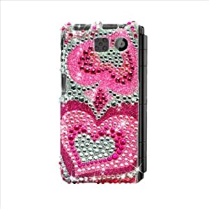 Eagle Cell PDSY6780F395 RingBling Brilliant Diamond Case for Sanyo Innuendo 6780 - Retail Packaging - Pink Heart