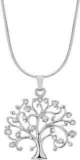 Jude Jewelers 镀铑树风格婚礼宣言鸡尾酒派对吊坠项链