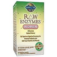 Garden of Life 女性素食補充劑 - 酵素 針對胃脹,胃熱 和腸易激綜合征(IBS),90粒膠囊