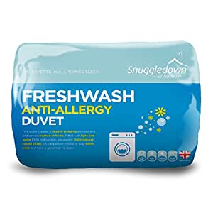 Snuggledown Freshwash 抗*羽绒被套,棉,白色 白色 Super King 1437SNG01