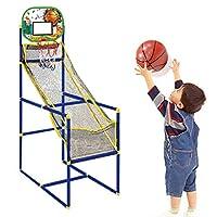 Allnice 儿童篮球街机游戏,幼儿游乐场篮球框室内篮球射击系统运动玩具,带 2 个充气球和泵