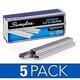 Swingline Staples, S.F. 4,优质,0.635 厘米长,210/条 5 包 5000/Box - Pack of 5