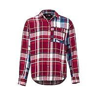 Marmot 男式 Asheville Midweight 法兰绒 LS 衬衫,长袖户外衬衫,远足衬衫,防紫外线,透气