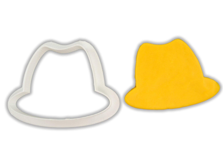 fedora 帽子饼干模具 large - 4 inches
