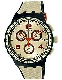 Swatch 斯沃琪 瑞士品牌 果冻计时系列 石英男女适用手表 崎岖之境 SUSN411
