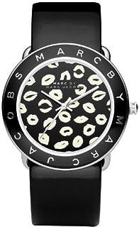 Marc by Marc Jacobs 女士石英不锈钢皮革正装手表,颜色:黑色(型号:MBM1163)