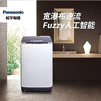 Panasonic 松下 8公斤 宽瀑布速流 人工智能 大容量 桶洗净 全自动波轮洗衣机 XQB80-Q58T2F灰色(亚马逊自营商品, 由供应商配送)