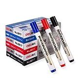 得力6817白板笔 水性可擦白板笔 2mm 易擦 黑板书写(3盒装) (黑1盒+红1盒+蓝1盒)