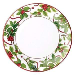 圣诞纸盘子甜点盘子圣诞节派对假日派对圣诞装饰尺寸 20.32cm 金色 Salad Plates Pack of 16 13930DP