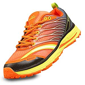 Topsky 远行客 运动鞋女鞋跑步鞋春夏季轻便网面透气竞赛专用鞋减震慢跑鞋 20670 桔红-女款 35