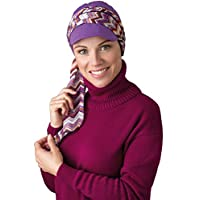 NJ 几何设计巡航帽紫色/紫色