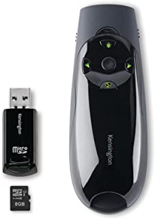 "Kensington Expert 无线演示器 Green laser + 8G memory 7.9"" x 5.2"" x 3.1"" 黑色"