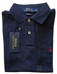Polo Ralph Lauren Men Custom Fit Mesh Polo Shirt (XX-Large, Spring Navy)