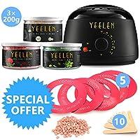 Yeelen Wax Warmer *蜡套装蜡熔融 + 3 个硬蜡豆+ 10 蜡涂抹器棒