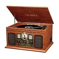Victrola Classic 6 合 1 蓝牙录音播放器音乐中心 – 桃花心木