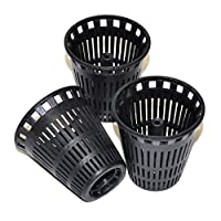 Danco 3 Replacement Baskets for Shower Drain Hair Catcher, Black, 10739