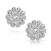 Bling Jewelry 贝灵珠宝 锆石 玫瑰造型 纯银耳钉