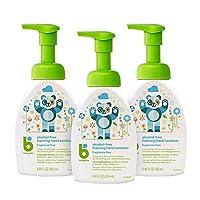 BabyGanics 無酒精泡沫洗手液 按壓瓶 無香料 8.45液盎司(250ml)瓶 3瓶裝 包裝或有不同
