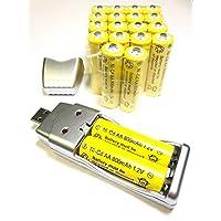20x AA 太阳能电池电池批量充电 Ni-Cd 800mAh 1.2V + USB 充电器4351481543 20 x AA 800mah & Charger