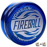 Yomega 消防球 - 专业反应式传动溜球,非常适合孩子和初学者,如专业人士一样演奏 + 额外 2 弦和 3 个月保修 蓝色