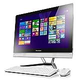 Lenovo 联想 C5030 23英寸台式一体机电脑 (intel奔腾双核3558U 1.7GHz 4G内存 DDR3 1T硬盘 7200转 GF820 2G独显 DVD 802.11n无线网卡 USB键鼠套装 主要部件两年保修及一年上门服务 Win8 白色)