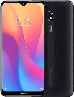 小米 Redmi 8A (32GB, 2GB RAM) 6.22 英寸高清显示屏,Snapdragon 439,5000mAh 电池,双 SIM GSM 解锁 - 美国和全球 4G LTE 国际版M1908C3KG 32 GB 午夜黑