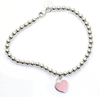 Tiffany & Co 蒂芙尼 纯银串珠手链 粉红色珐琅饰面 RTT 3097811