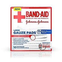 Red Cross First Aid *纱片,大号-10片,4英寸 x 4英寸