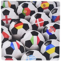 3dRose LLC 8 x 8 x 0.25 Inches Mouse Pad, England, Germany, Portugal, Spain, DM, Czech Republic, Italy, France, Greece, Ukraine Flags on Soccer Balls (mp_155022_1)