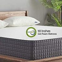 Queen Mattress - Sweetnight 10 Inch Queen Size Mattress-Infused Gel Memory Foam Mattress for Back Pain Relief & Cool Sleep, Medium Firm