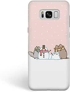 这款手机壳可爱冬季猫三星 硬质手机壳耐用保护壳GM3118 Samsung Galaxy S7 Cute Cat Snowman