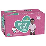 Pampers 易训练裤拉式一次性尿布适用于女孩 6号 Size 6, 37+ lb (4T-5T), 104 Count 104