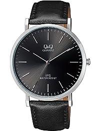 [西铁城 Q&Q]CITIZEN Q&Q 手表 指针式 皮带 海外款 黑色 QZ02J302 男士