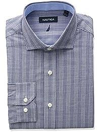 Nautica 男式 cutaway 领格子衬衫