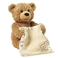 【美亚爆款,百年毛绒品牌】GUND Peek-A-Boo用毯子躲猫猫的可爱小熊毛绒玩具- 11.5英寸( 29cm)(亚马逊进口直采,美国品牌)